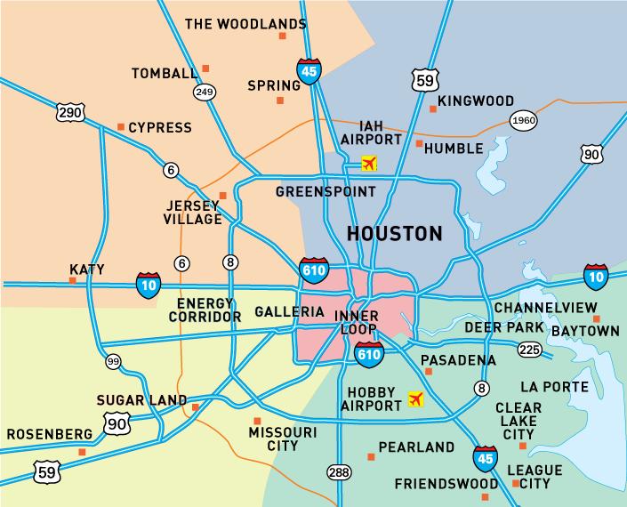 Houston Texas Suburbs Map U2013 Bnhspine.com