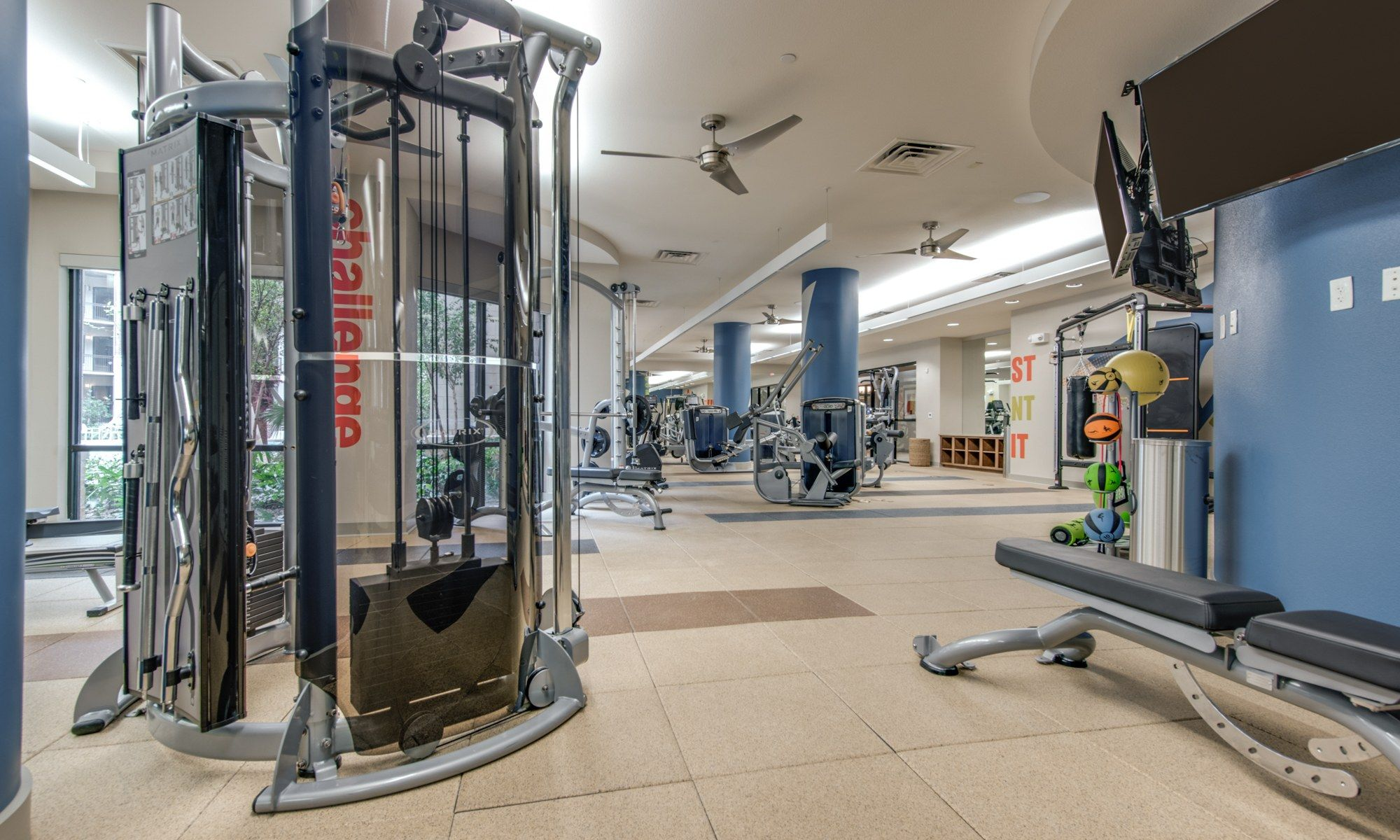 Fitness Center - 500 Crawford Apartments