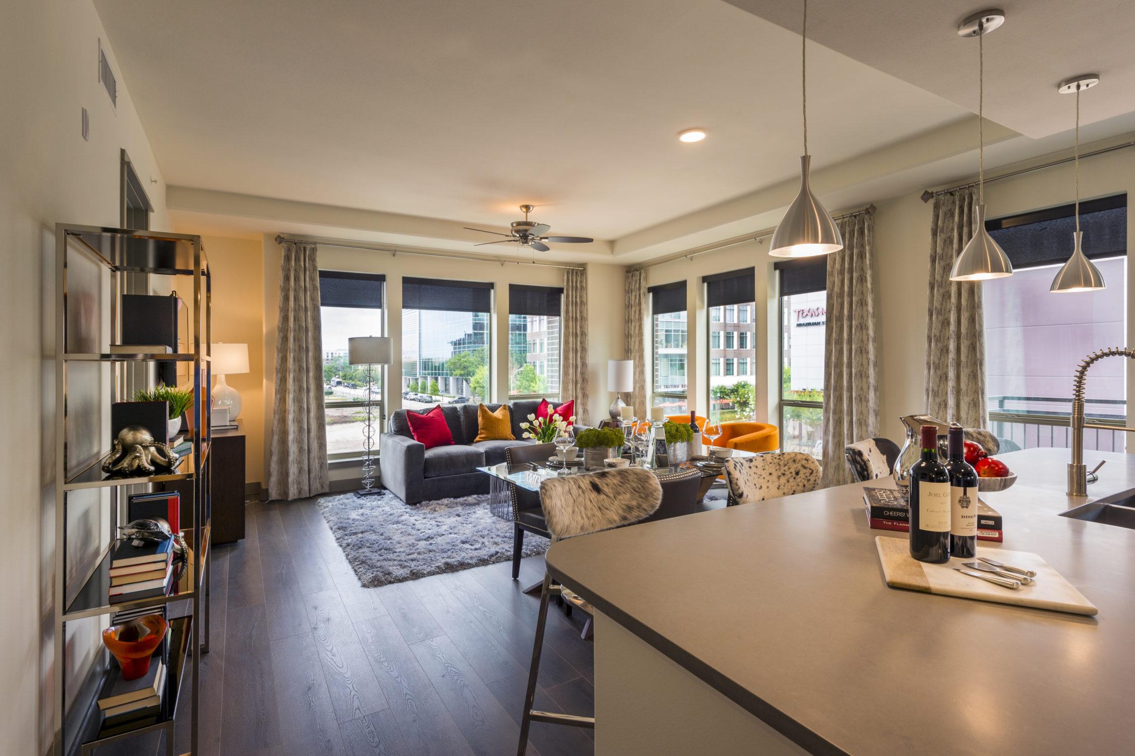 Living Room - Alexan CityCentre