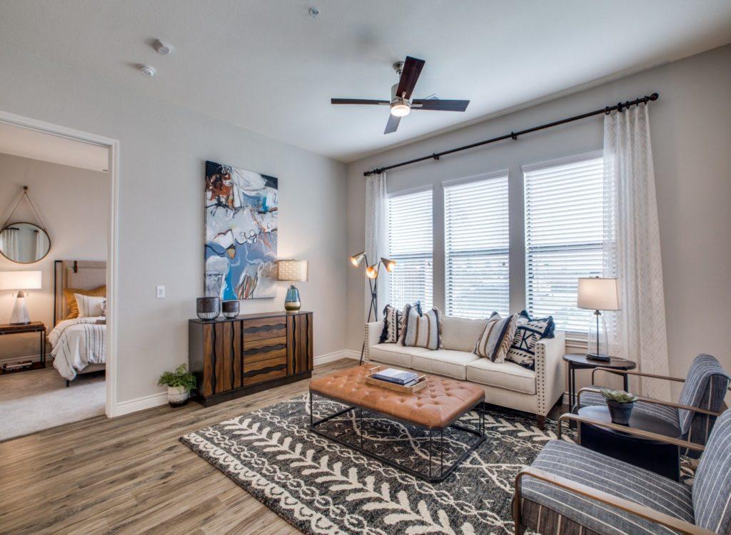 Living Room - Alexan Exchange