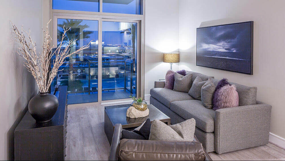 Living Room - Catalyst Apartments