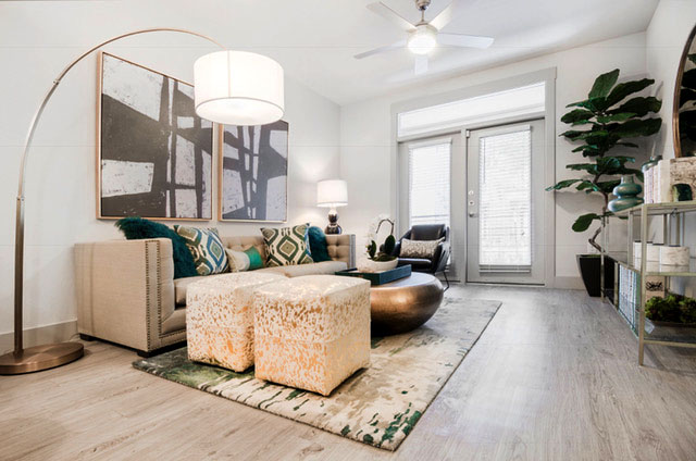 Living Room - Everly Apartments