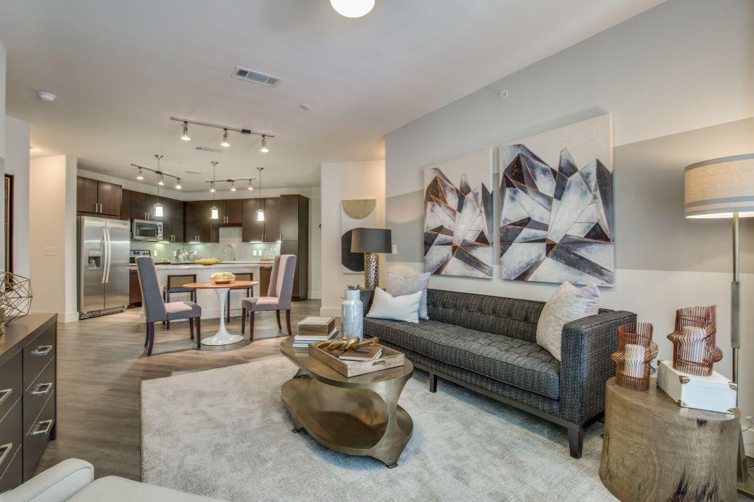 Living Room - Folio West Apartments