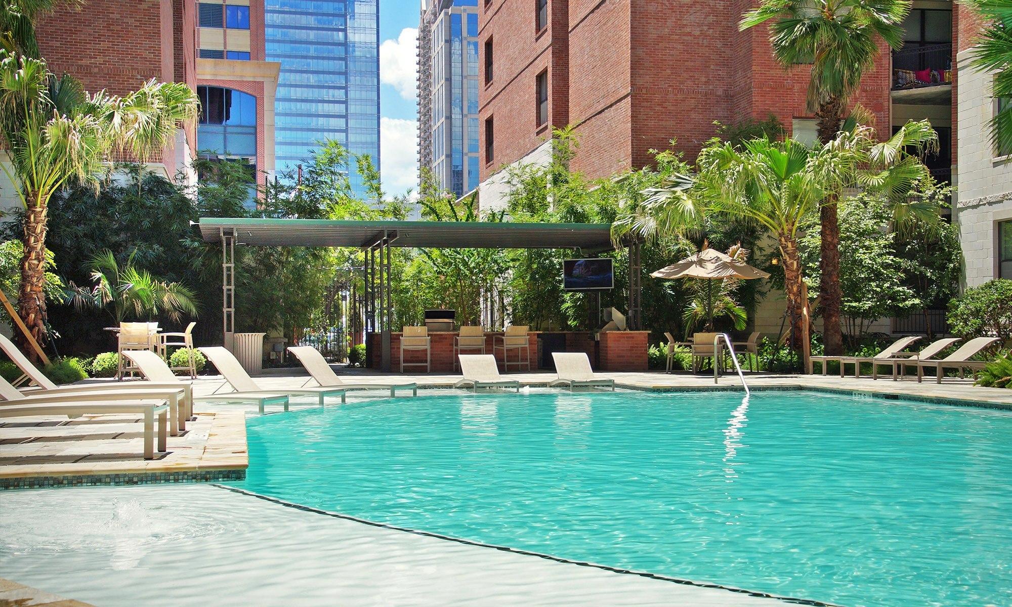 Pool - 500 Crawford Apartments