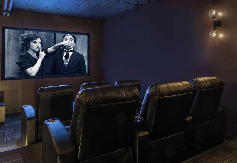 Private Media Theater Room - The Star Apartments